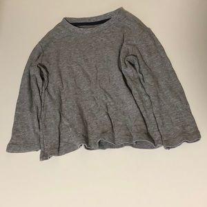Uniqlo Shirts & Tops - Uniqlo Long sleeve Gray T Shirt 4-5Y